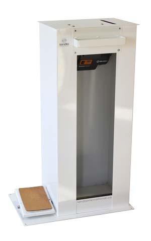 Base debout pour machine à pièces avec servomoteur